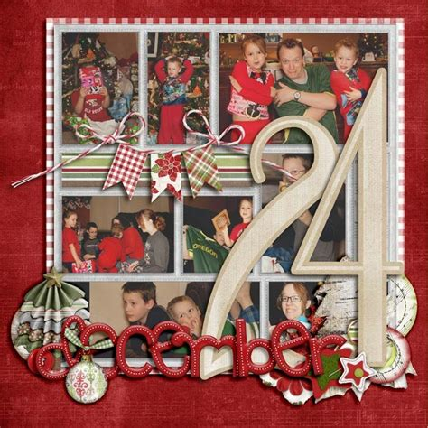 scrapbook christmas layout scrapbooking pinterest