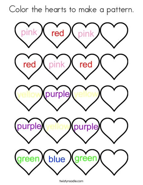 heart pattern color color the hearts to make a pattern coloring page twisty