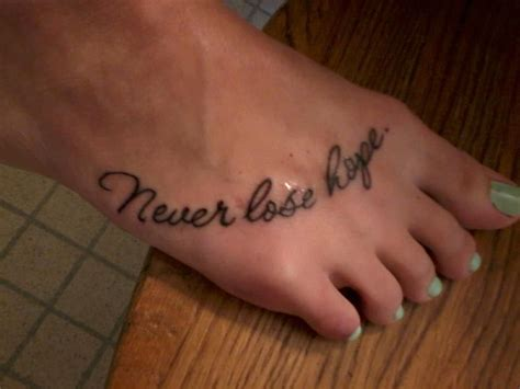 never lose hope tattoo never lose my tattoos piercings