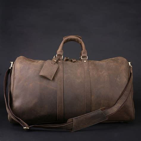 Handmade Duffle Bags - s handmade vintage leather travel bag luggage