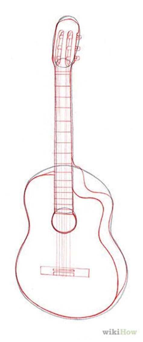 easy guitar book sketch how to draw a guitar with easy step by step drawing