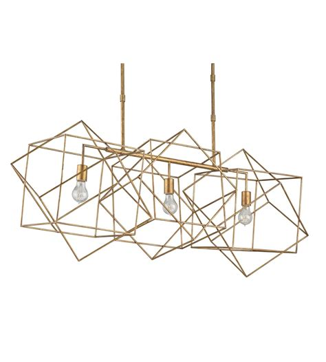 Rectangle Chandelier Currey And Company 9554 Erickson Rectangular Chandelier In