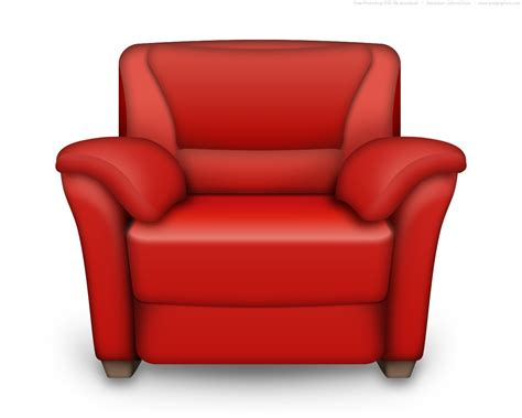 armchair red psd red and white leather armchair interior icon