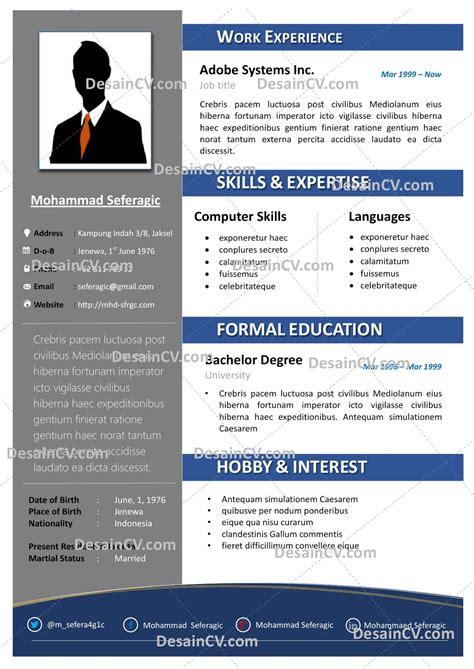 Template Cv Kreatif Desain Cv Kreatif Professional Contoh Curriculum Vitae Resume Template