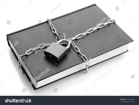 Black Book Lookup Black Book With Chain Isolated On White Stock Photo 124423888