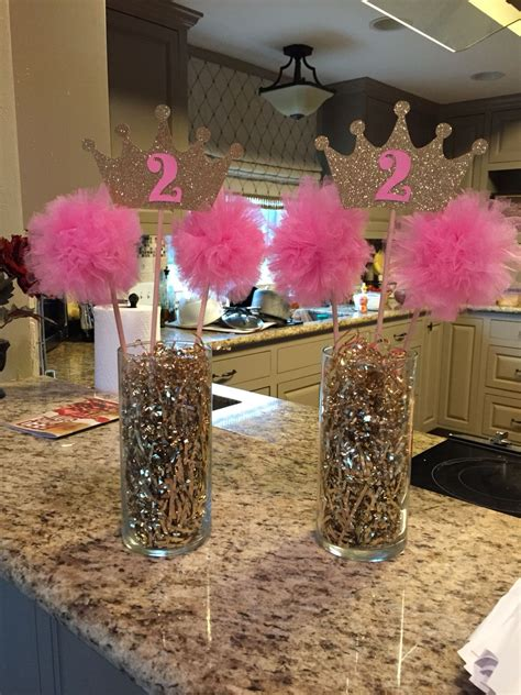 birthday centerpieces for tables pink gold princess birthday centerpiece