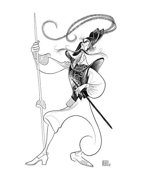 la mancha tattoo al hirschfeld richard kiley in quot of la mancha quot al