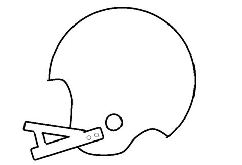 Football Helmet Outline Profile by Printable Football Helmets Cliparts Co