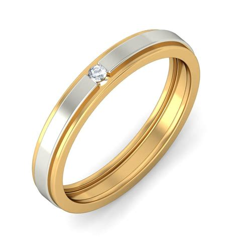 Wedding Bands Affordable by Affordable Wedding Band In Two Tone Gold