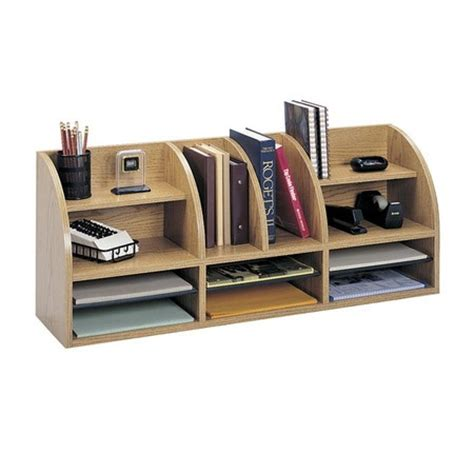 Htons Desktop Organizer In Oak Organize Me Oak Desk Organizer