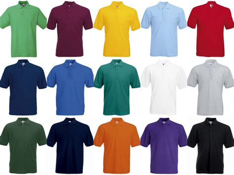fruit of the loom ss11 fruit of the loom polycotton pique polo shirt pb