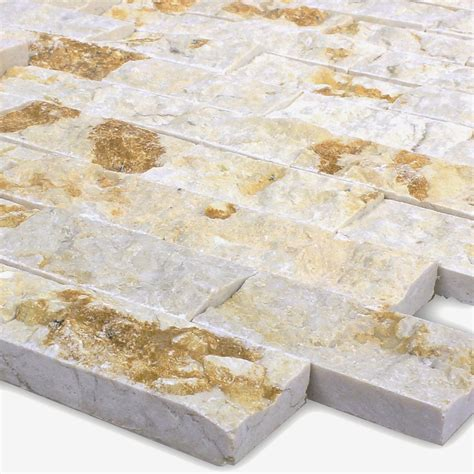 mosaik fliesen beige marble brick split 3d nero mosafil co uk