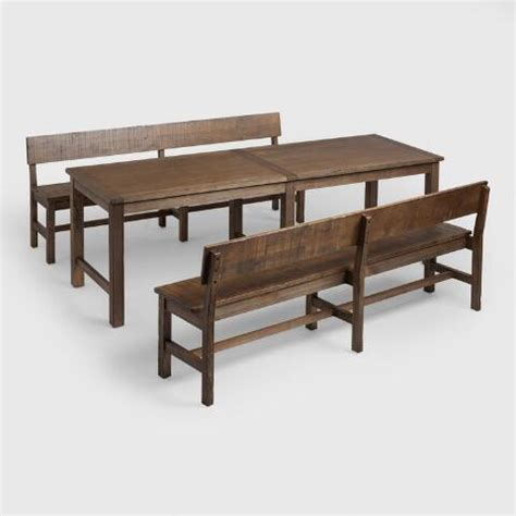 world market wood potting bench distressed brown wood gulianna dining bench