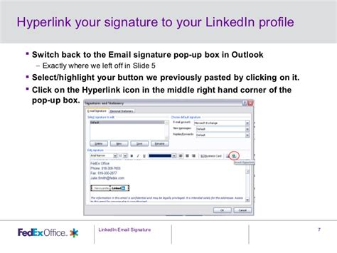 Mba Email by Adding Linkedin To Your Email Signature