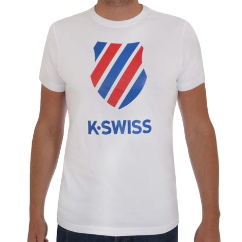 Tshirt Swiss 2 k swiss mens logo t shirt retro crew neck top black