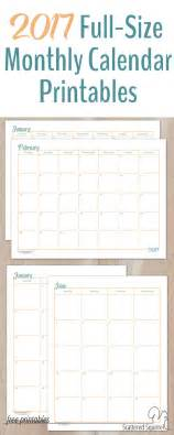 Fit Academic Calendar 2017 Size Monthly Calendar Printables Are Here