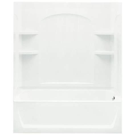 sterling bath shower sterling ensemble 32 in x 60 in x 74 in bath and shower kit with right drain in white