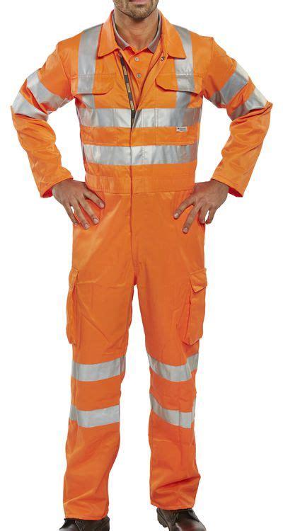 rail spec orange coveralls