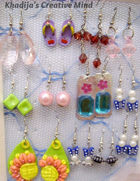 handmade polymer dough earrings