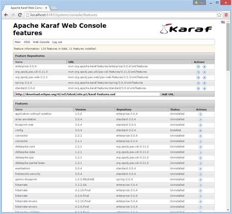 karaf tutorial github eig install into apache karaf eclipsepedia