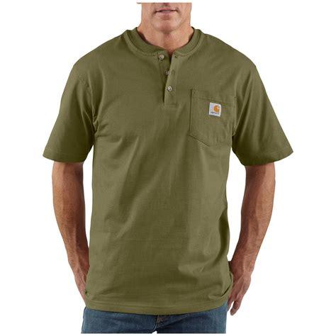 t shirt carhartt logo s carhartt 174 workwear sleeve pocket henley