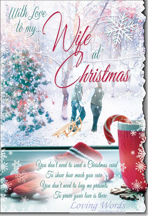 love   wife  christmas greeting cards  loving words