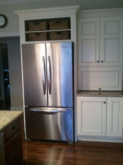 the fridge cabinet cabinets spaces and refrigerators on