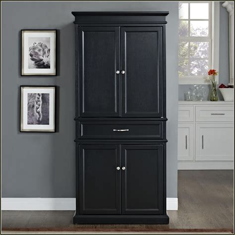 Black Kitchen Pantry Cabinet Kitchen Terrific Stand Alone Kitchen Pantry Designs For All Your Kitchen Needs Custom Decor