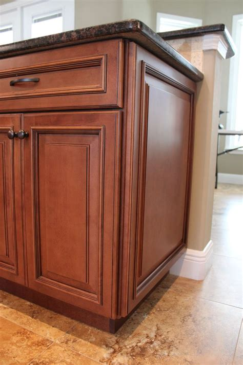 Kitchen Cabinet Panels Fabuwood Wellington Cinnamon Glaze Wainscot Panel Kitchen Cabinetry Kitchen Cabinet Raised
