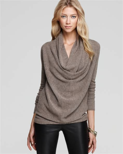 draped cowl neck sweater vince sweater drape front cowl neck bloomingdale s