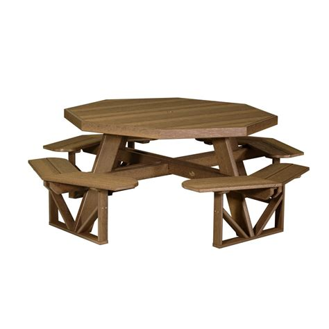 octagon wood picnic table octagon picnic table recycled patio oak things