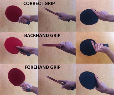 Table Tennis Grip Some And Bad Exles