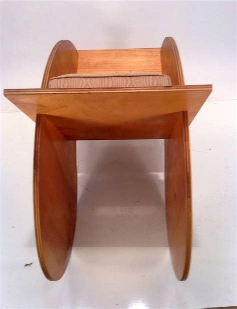 bench made furniture one off quot yin yang quot puzzle lounge chair modernist bench