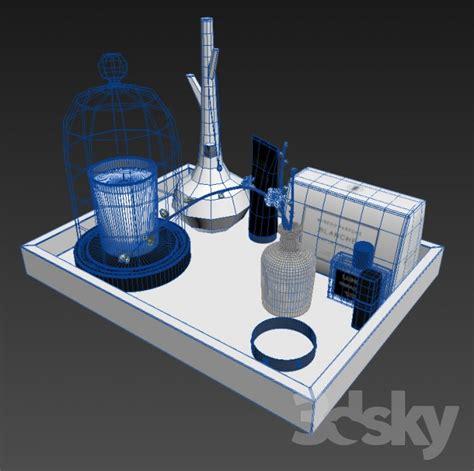 3d models bathroom accessories bath set