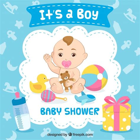 Baby Shower S by It S A Boy Baby Shower Background Vector Free