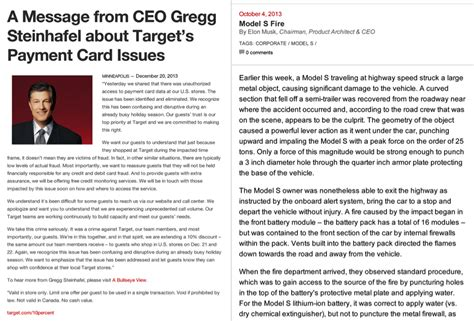 Introduction Letter New Ceo Tesla Vs Target Which Ceo Wrote The Better Open Letter