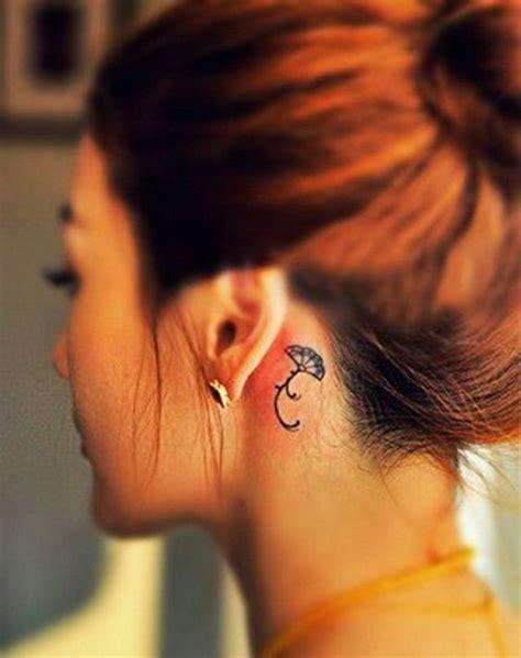 lotus tattoo behind the ear 60 pretty designs of ear tattoos 2017