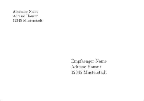Empf Nger Brief Beispiel ausgezeichnet a6 umschlag vorlage fotos