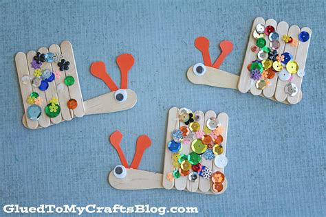 snail crafts for popsicle stick snails kid craft glued to my crafts