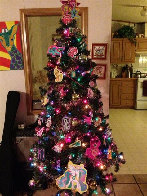 my little pony christmas tree by unicornkiddo on deviantart