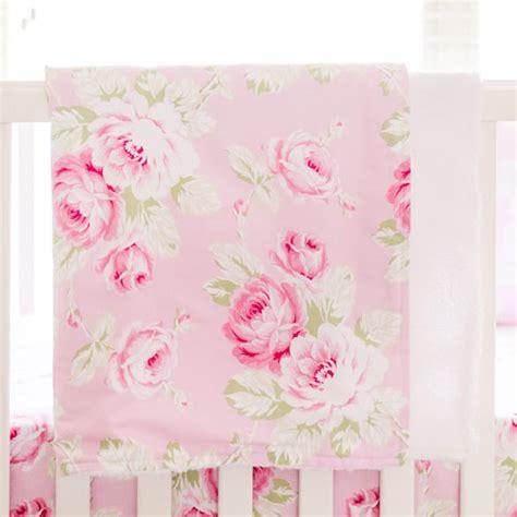 Floral Print Blanket pink floral faux fur baby blanket baby crib blanket