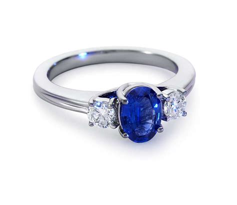 ring jewelry sapphire and ring in 18k white gold tanary jewelry