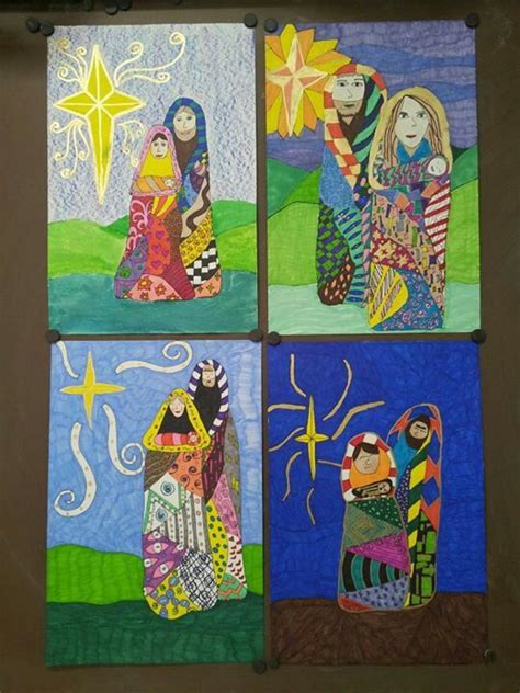 fifth grade winter art projects klimpt inspired holy family 5th grade elementary project