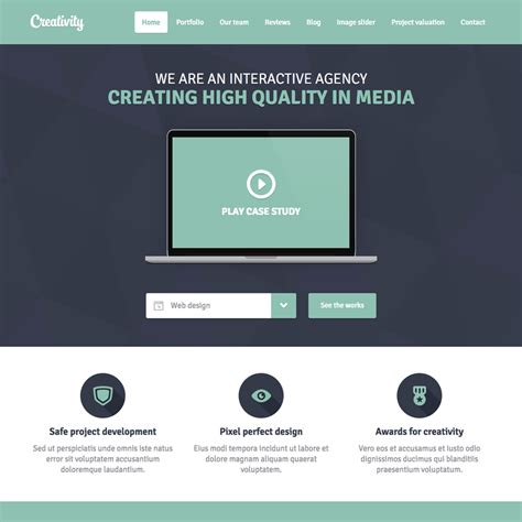 Free Minimal Creativity Responsive Website Template Minimalist Web Templates