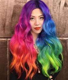 colorful hairstyles 25 best ideas about rainbow hair on galaxy