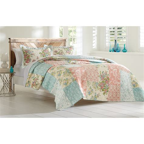 Cannon Quilt by Cannon Floral Block Printed Quilt Set Shop Your Way