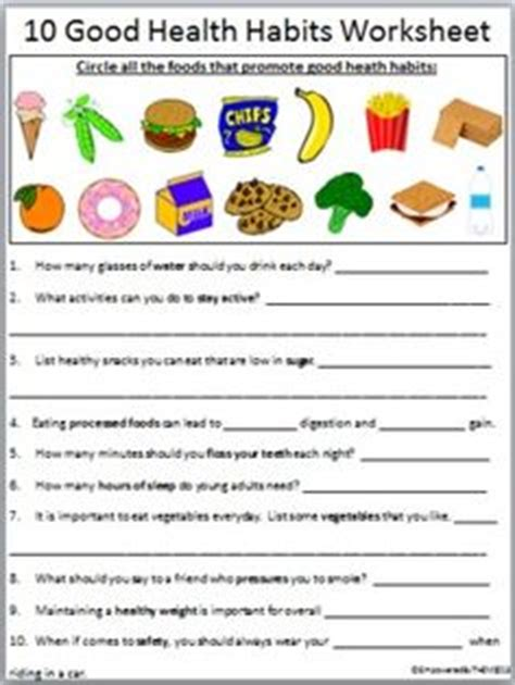 Grade 1 Habits Worksheet Kidschoolz Healthy Habits Grade 1 Worksheet Earth Day 1 Quot Worksheets And Health