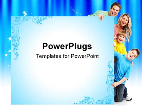 Powerpoint Template Smiling Family Of Four Two Sons And Family Powerpoint Templates