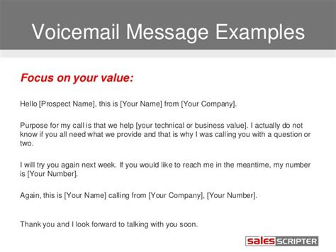 sle of voicemail message best business voicemail template contemporary exle