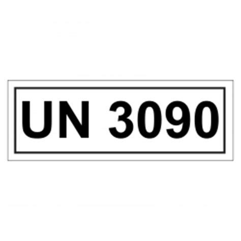 Un Aufkleber Bestellen by Un Verpackungskennzeichen Mit Un 3090 Aufkleber Shop